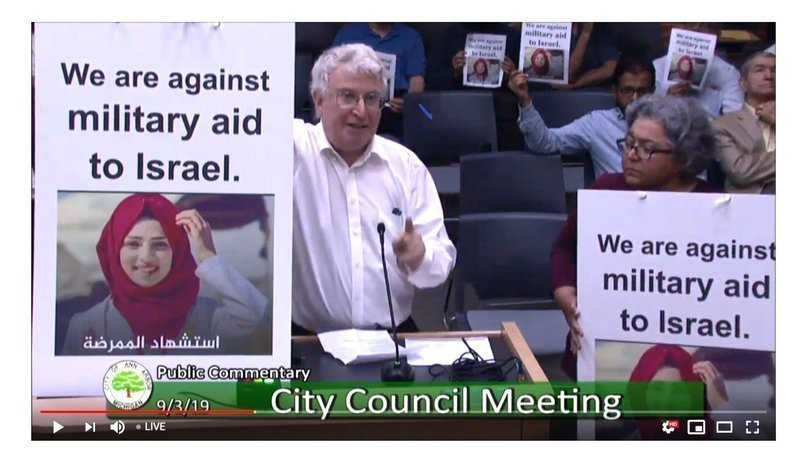 Dr. Mozhgan has petitioned Ann Arbor City Council for a resolution against military aid to Israel.
